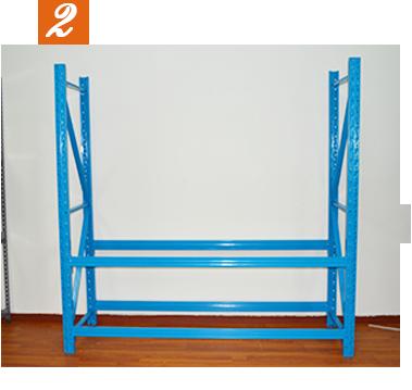 轻型角钢货架安装步骤图2